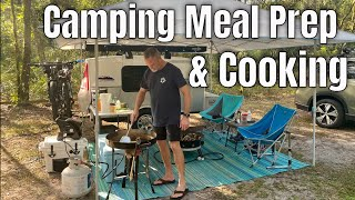 Camping Meal Prep aฑd Cooking on the FireDisc