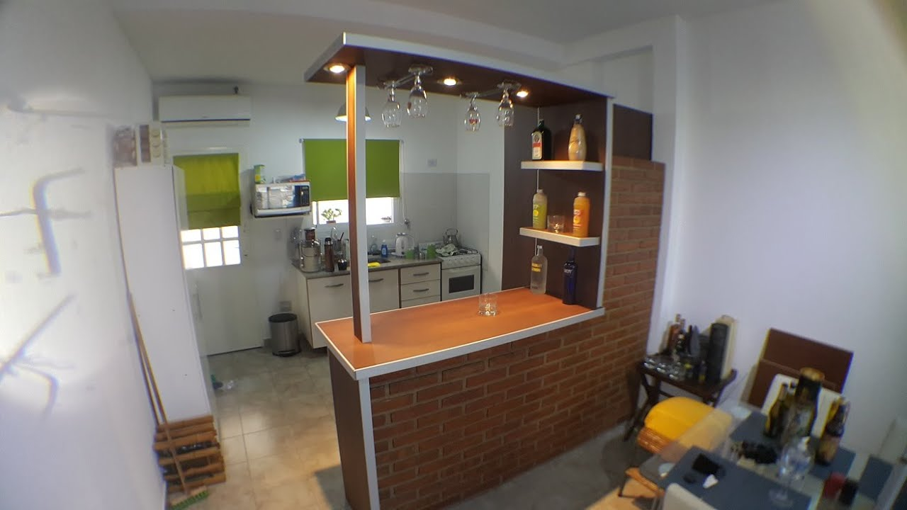 Desayunadores y barras separadores de ambientes fabrica for Planos de cocinas con barra desayunadora