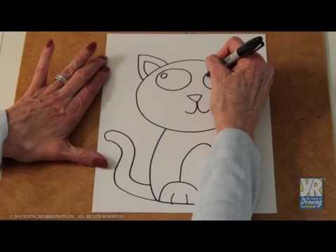 Teaching Kids How to Draw: How to Draw a Kitten