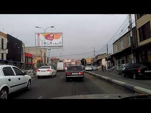 Торговая улица из аэропорта Звартноц в Ереван, май 2019, Армения