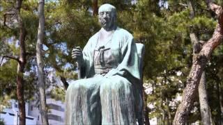 別格官幣社福井神社に建立されている松平春嶽像。第16代越前福井藩主。...