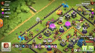 Wall wrecker taking the healers clash of clans
