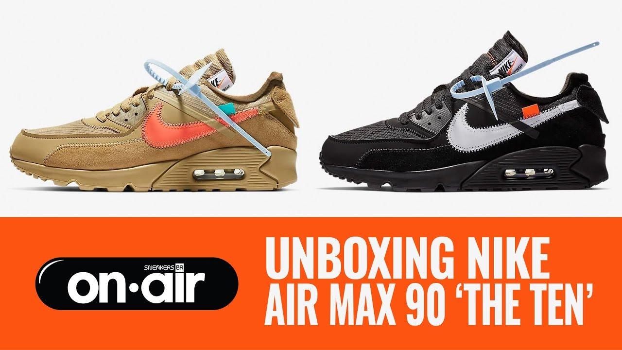 5300b242057 SBROnAIR Vol. 120 - Unboxing Nike Air Max 90  The Ten   piranomeuair · Sneakers  BR