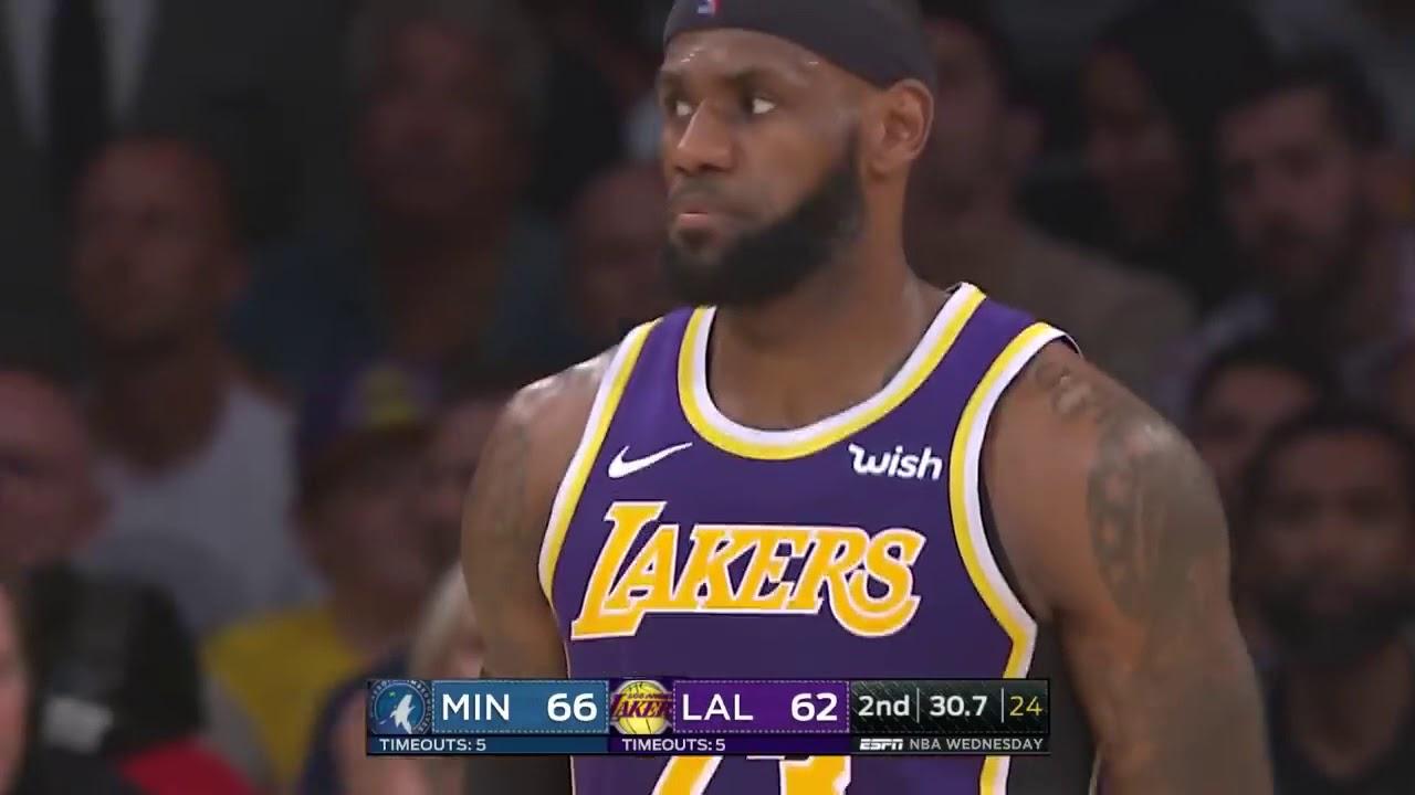 Headband Lebron James Highlights Vs Timberwolves 2018 24 Pts 10