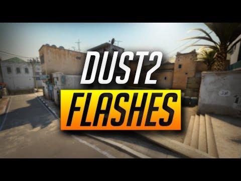 BEST DUST2 POP FLASHES - CS:GO (2018)