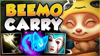 DON\'T LET MY CUTENESS FOOL YOU! NEW BEEMO IS LETHAL! TEEMO SEASON 8 TOP GAMEPLAY! League of Legends