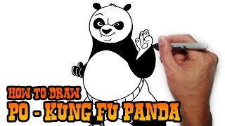 How to Draw Po- Kung Fu Panda- Step by Step Video Lesson