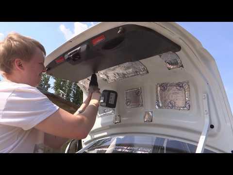 Lada Granta - установка обшивки крышки багажника.