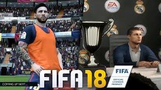 AQUECIMENTO PRÉ-JOGO E ENTREVISTA DEPOIS!!! - VÁRIAS NOVIDADES DO FIFA 18!!
