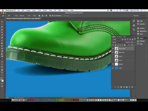 Photoshop Demo: Isolating Shoes/Shadows/Backgrounds & Image Editing