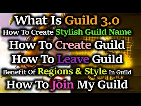 What Is Guild 3.0 || Free Fire | Make Stylish Guild Name | Use Of  Regions & Style| #94