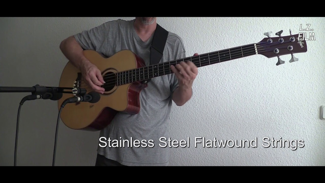 roundwound vs flatwound strings on a five string acoustic bass youtube. Black Bedroom Furniture Sets. Home Design Ideas