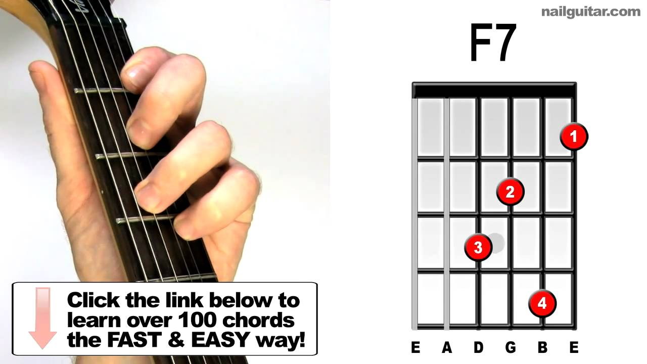 F7 - Guitar Chord Tutorial - YouTube