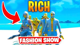 *RICH* Fortnite Fashion Show! FÏRE Skin Competition! Best COMBO WINS!