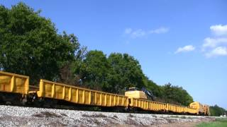 Monroe, Louisiana - KCS Work Train. (09/04/2012)