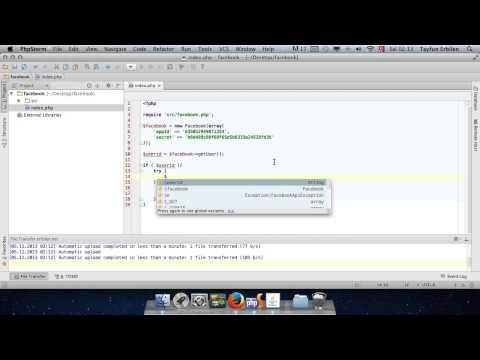 php ile facebook giriş uygulaması 12