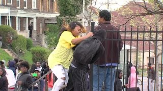 vuclip ORIGINAL: Angry mother beats son for participating in Baltimore riots