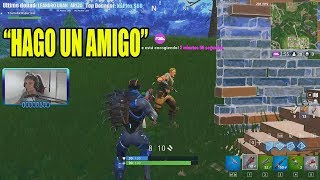 Encontre un amigo NOOB y ganamos en FORTNITE *final triste*