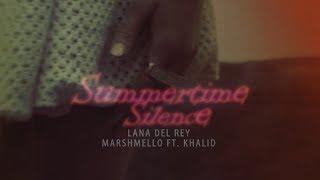 Lana Del Rey x Marshmello ft. Khalid (Lyrics) - Summertime Silence [Music Mashup]