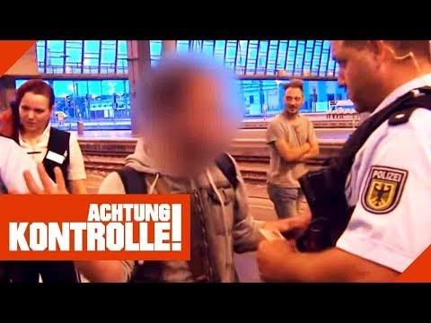 Schwarzfahrer ohne gültigen Ausweis! Polizei erstattet Anzeige!    Achtung Kontrolle   Kabel Eins