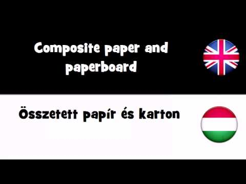 TRANSLATE IN 20 LANGUAGES = Composite paper and paperboard