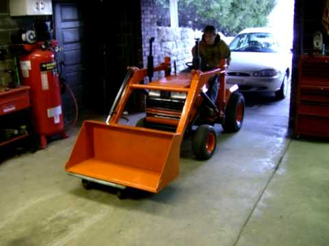Craftsman 18hp with home made loader YouTube