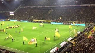 Borussia Dortmund Intro HD Hymne im Revierderby, you