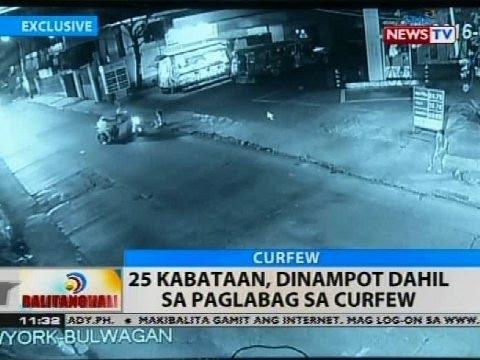 BT: 25 kabataan, dinampot dahil sa paglabag sa curfew
