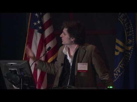 Bruno J. Strasser speaking at the Genbank 25th Anniversary