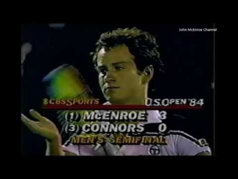 Jimmy Connors Vs McEnroe Semi Final - US Open 1984