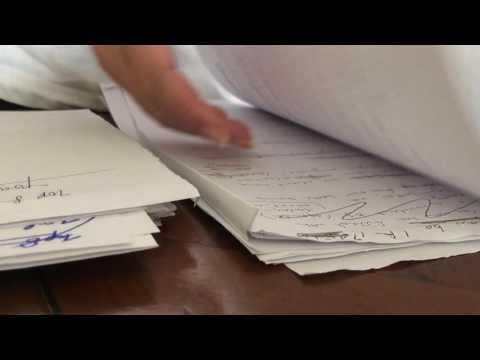 ASMR Sorting papers, shuffling