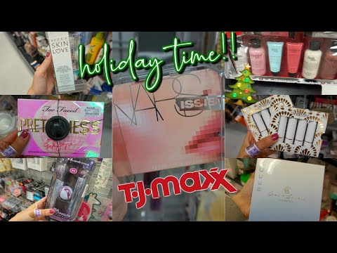 HOLIDAY TIME AT TJ MAXX!! BUDGET BEAUTY BUYS | HIGH END MAEKUP FOR CHEAP