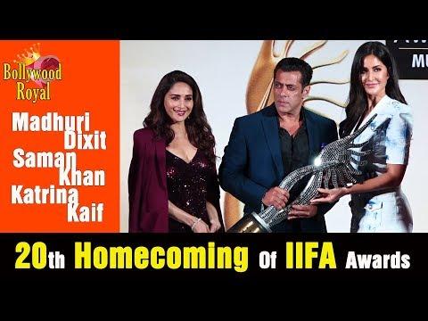Salman Khan, Katrina Kaif & Madhuri Dixit At The PC Of 20th Homecoming Of IIFA Awards