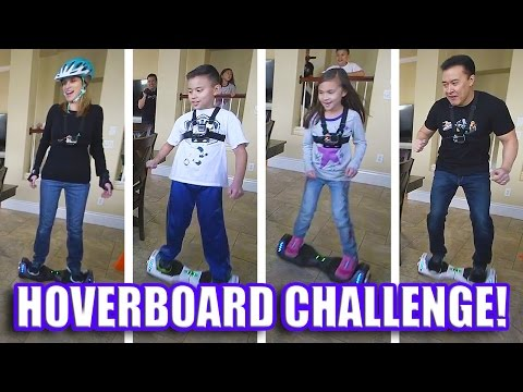 HOVERBOARD CHALLENGE!!! AlienWheels BatWings Racing Action!