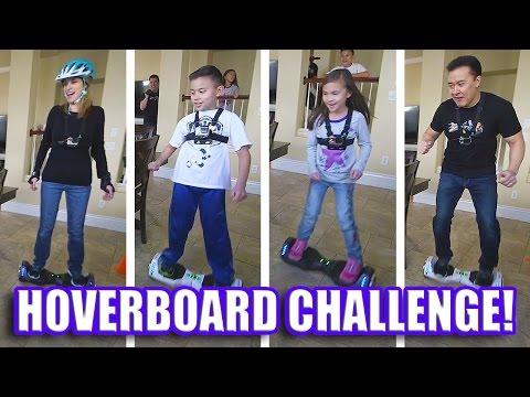 HOVERBOARD CHALLENGE!!! AlienWheels BatWings Racing Action!