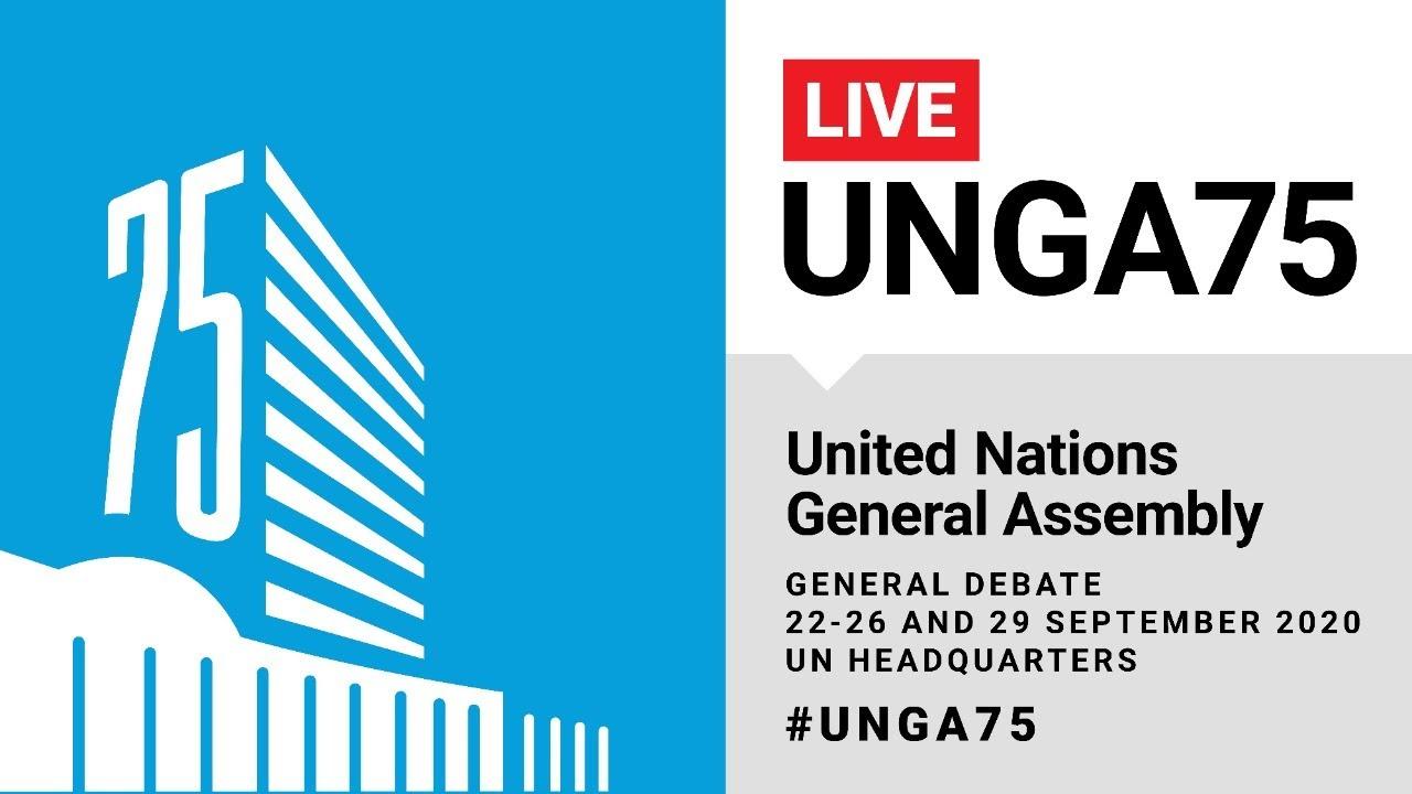 #UNGA75 General Debate Live (India, UK, Syria & More) - 26 September 2020