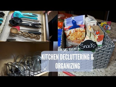 ORGANIZE WITH ME// KITCHEN DECLUTTERING & ORGANIZING HACKS //Organizing Motivation