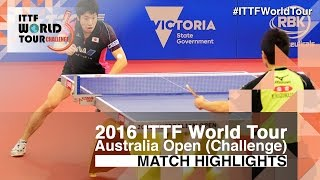 2016 Australian Open Highlights: Jun Mizutani vs Yuto Kizukuri (1/2)(Review all the highlights from the Jun Mizutani vs Yuto Kizukuri (1/2) from the 2016 Australian Open Subscribe here for more official Table Tennis highlights: ..., 2016-06-12T14:23:15.000Z)