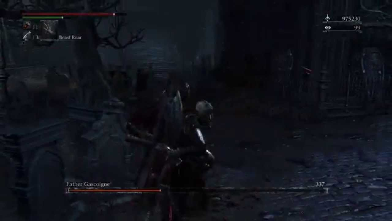Bloodborne - Father Gascoigne beast form cancel - YouTube