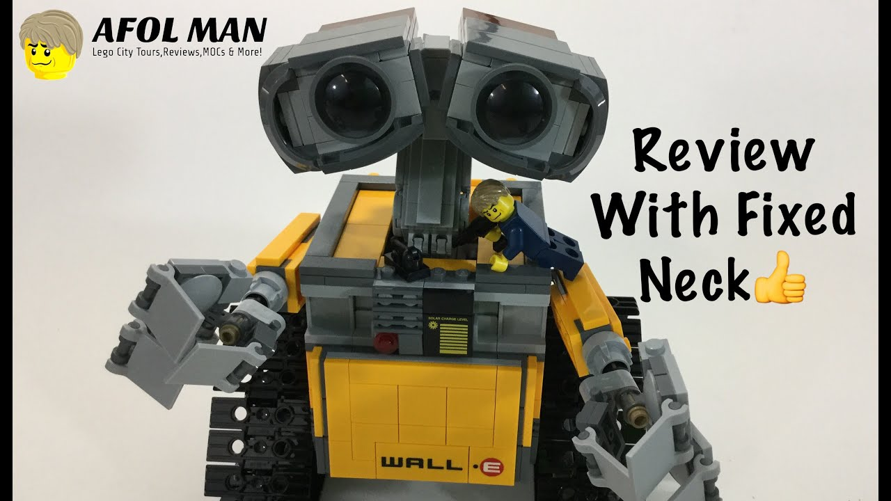 lego wall-e 21303 review with fixed neck👍👌 - youtube
