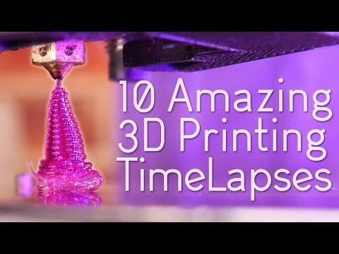 Satisfying 3D Print TimeLapse Compilation 9 (Prusa I3 Mk3 octolapse orbiting camera rig)