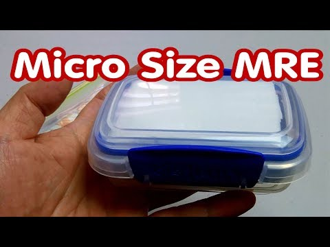 Micro Size DIY MRE : Energy Boost MRE : Meal Ready to Eat : Eye-On-Stuff
