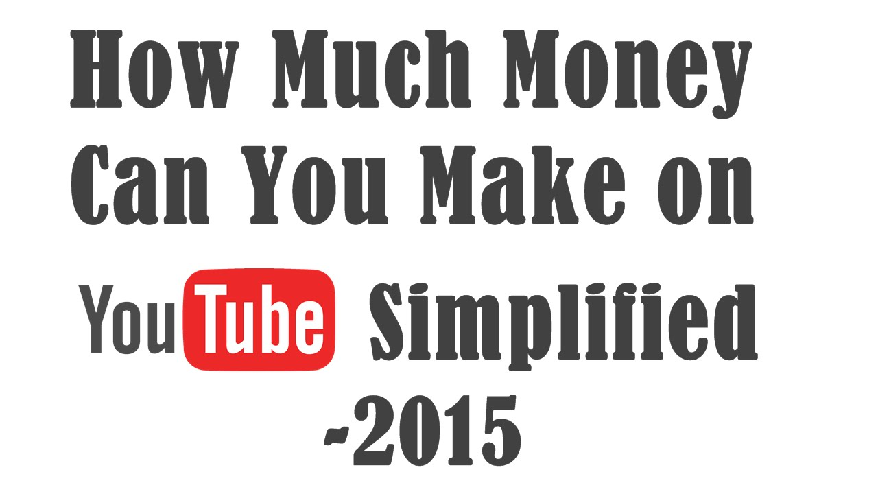how much one can earn from youtube