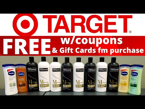 TARGET ALL FREE WITH COUPONS-TARGET Gift Card with purchase-You guys are going to love this deal.