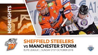 Sheffield Steelers v Manchester Storm - EIHL - 21st October 2018