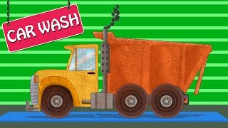 Dump Truck | Car Wash | Construction Vehicle | Learning Video For Kids