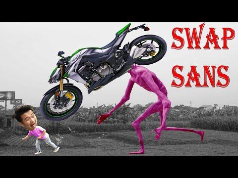 SWAP SANS Thử Thách Quỷ Đầu Xe Máy Z1000 Ngoài Đời Thật | Challenge Siren Head Z1000 | Tân Paris