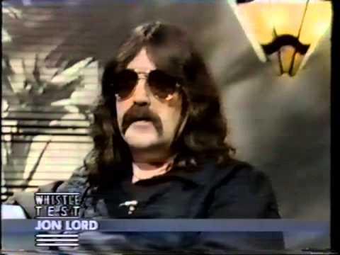 Ian Gillan & Jon Lord on the UK BBC2 Show ' The Old Grey Whistle Test' November 1985
