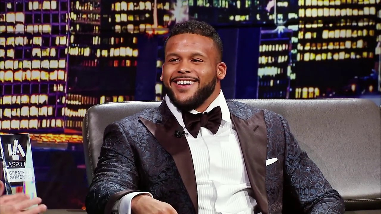 Aaron Donald Talks Trash To A Lot Of Qbs 2018 La Sports Awards Youtube