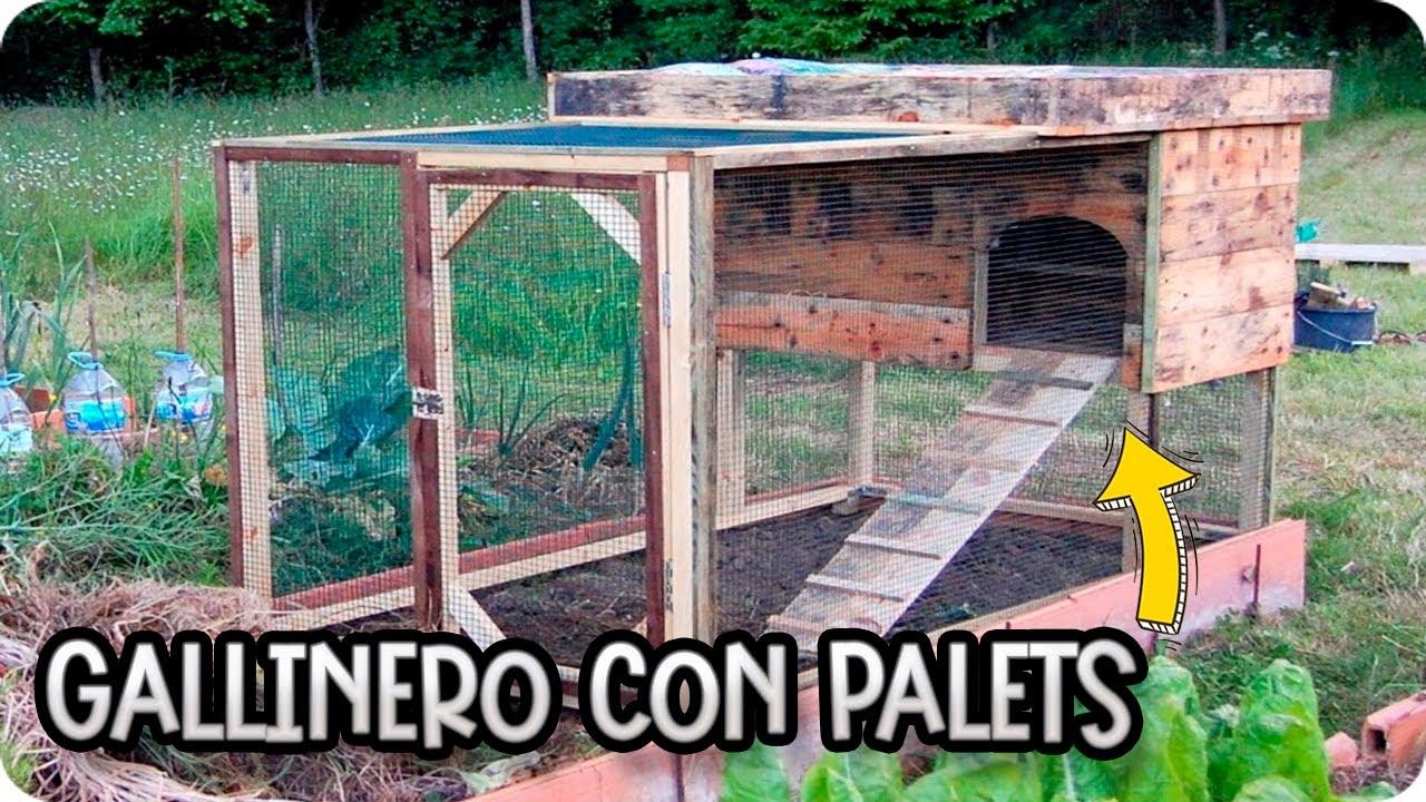 Como hacer un gallinero con palets modelo sisi la for Caseta de pvc para jardin